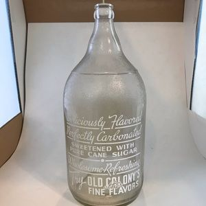 Other - OLD COLONY ACL SODA BOTTLE HALF GALLON 1906